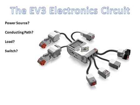 Power Source? Conducting Path? Load? Switch?. Review Question 1 Which part of the 4 parts of a circuit is the Black Button on the EV3 Brick? A) Power.