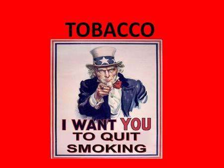 TOBACCO. What's in a Cigarette? More than 4,000 hazardous compounds. The most harmful: Tars: chemicals present in tobacco. Tars are well known carcinogens.