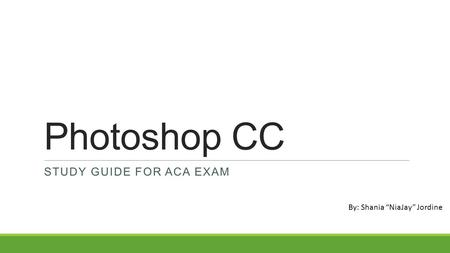 photoshop study guide