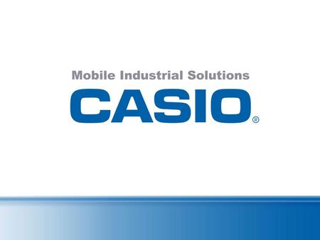 CASIO IT-10 The Heavy-Metal-PDA 1 meter drop protection Water and dust protection according to IP54 The Casing Especially Robust Robust and still representative,