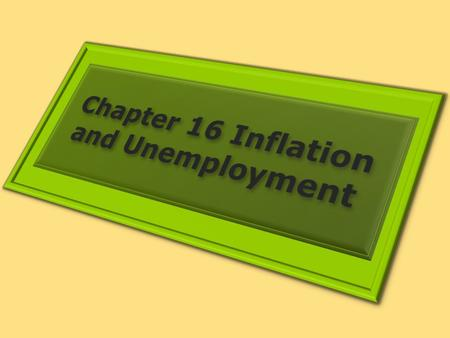 1. THE ROLE AND NATURE OF INVESTMENT Learning Objectives 1.Draw a Phillips curve and describe the relationship between inflation and unemployment that.