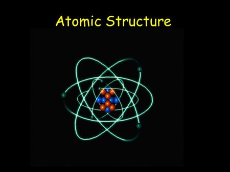 "Atomic Structure. The structure of the atom ELECTRON – negative, mass nearly nothing PROTON – positive, same mass as neutron (""1"") NEUTRON – neutral,"