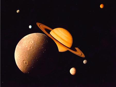 Saturn's Moon System Most extensive, complex moon system in the solar system. Over 40 known moons.