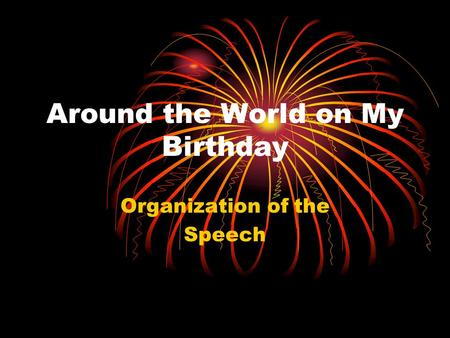 Around the World on My Birthday