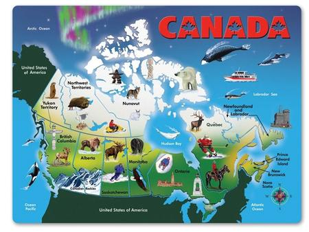 (R44) Canadian Geography Today's Standard(s) SS6G5 The student will locate selected features of Canada. a. Locate on a world and regional political-physical.