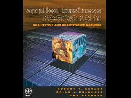 Chapter 1 Introduction to Business Research Chapter Objectives Describe what research is and state how it is defined Distinguish between applied and.