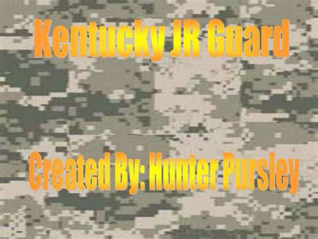 The JR. Guard program is a partnership between our Youth Service Center and the 1/623rd Kentucky Army National Guard. In Kentucky only 7 schools have.