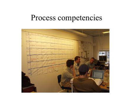 Process competencies. More than study skills….. Co-operation, management, learning, etc. Core part of a PBL-curriculum not only academic - not only practical.