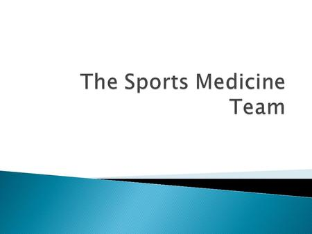  Is the study and practice of medical principles related to the science of sports, particularly in the areas of sports diagnosis and treatment of sprots.