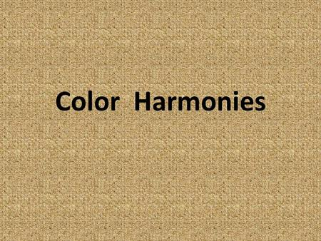 Color Harmonies. Color schemes look best, when one color dominates. Your dominant color should cover about two thirds of the room area. An equal split.
