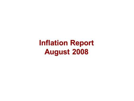 Inflation Report August 2008. Output and supply Chart 3.1 GDP at market prices (a) Sources: ONS and Bank calculations. (a) Chained-volume measures. The.