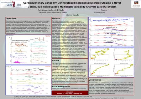 Cardiopulmonary Variability During Staged Incremental Exercise Utilizing a Novel Continuous Individualized Multiorgan Variability Analysis (CIMVA) System.