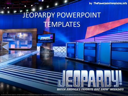JEOPARDY POWERPOINT TEMPLATES. Category 1Category 2Category 3Category 4Category 5 $100 $200 $300 $400 $500 FINAL JEOPARDY FINAL JEOPARDY.