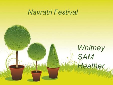 Navratri Festival Whitney SAM Heather Powerpoint Templates.