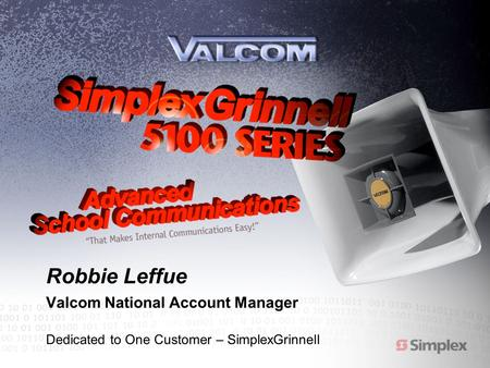 Robbie Leffue Valcom National Account Manager