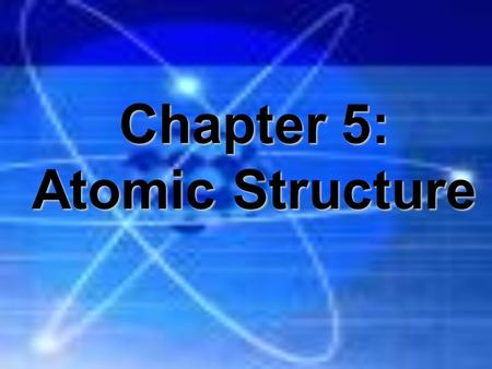"Chapter 5: Atomic Structure. Early Models of Atoms Democritus (460-400B.C.) first suggested the existence of these particles, which he called ""atoms"""