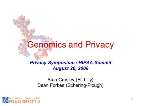 Privacy Symposium / HIPAA Summit