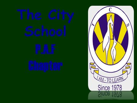 The City School P.A.F Chapter. Farzana Karimi Social Studies Class Teacher IV-K The City School Jr. Section, PAF Chapter.