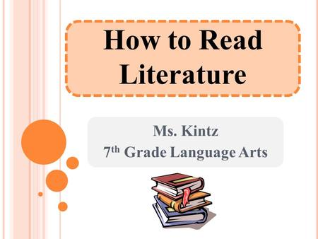 How to Read Literature Ms. Kintz 7 th Grade Language Arts.
