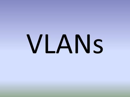 VLANs. Current Setup Why VLAN? Allows DL Codec connections anywhere in your building Don't have to purchase separate switches for your codec network.