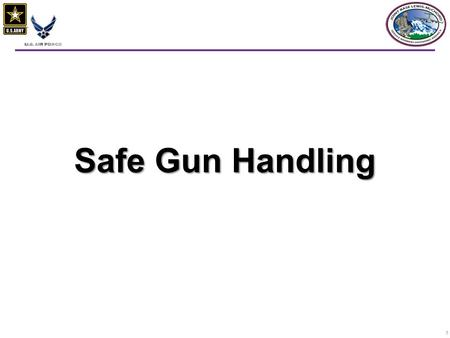 1 Safe Gun Handling. 22  Emphasizing the basics  enrolling in hunter safety or shooting safety courses  Beginners must be closely supervised  You.