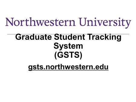 Graduate Student Tracking System (GSTS)