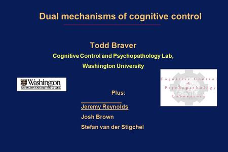 Dual mechanisms of cognitive control