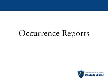 Occurrence Reports. An occurrence report is a document used to record an event when it occurs Occurrences are reported each time an occurrence occurs.