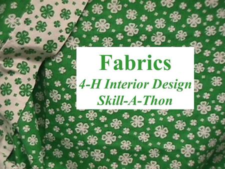 Fabrics 4-H Interior Design Skill-A-Thon. Toile Traditional fabric pattern printed with pastoral scenes.