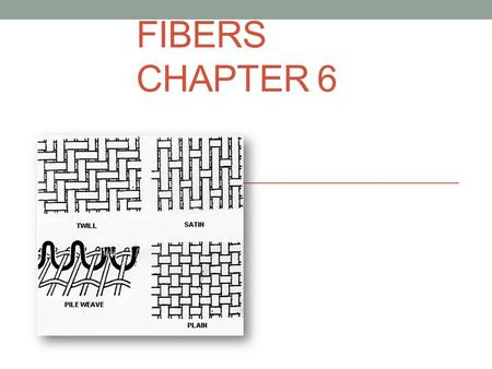 FIBERS CHAPTER 6. Fibers Fibers are made up of many filaments twisted or bonded together to form a thread. Along with hair, fibers are the most common.