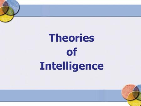 Theories of Intelligence. Defining Intelligence What behaviors are associated with intelligence? How is intelligence defined by researchers?