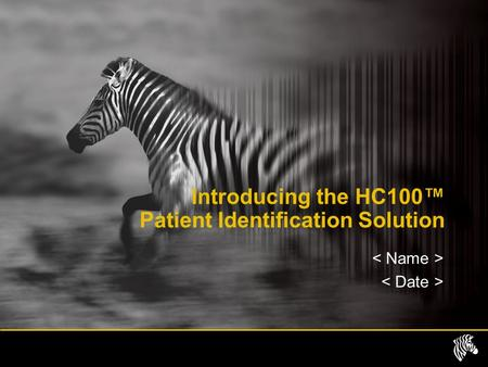 Introducing the HC100™ Patient Identification Solution.