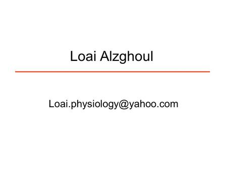 Loai Alzghoul Action Potential = ALL x NOTHING.