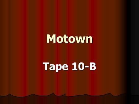 Motown Tape 10-B. I've Been Loving You Too Long Aretha Franklin.