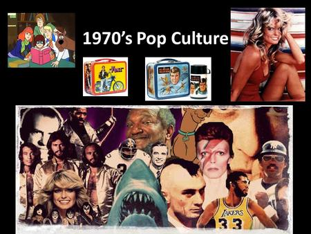1970's Pop Culture. Fashion 1970s fashion was expressive and fun. People wore jump suits, turtlenecks, hot pants and everything in between.