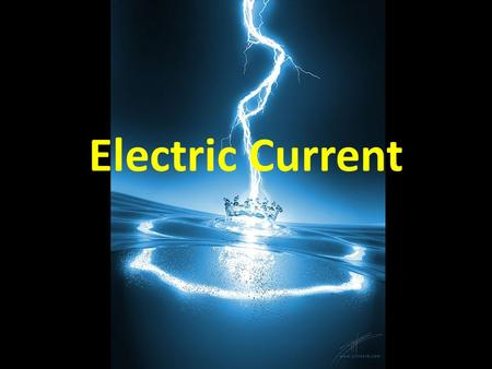 Electric Current. The rate of flow of electric charges Unit of measure is coulombs per second, or amperes I – rate of flow (current) (amps) q – charge.