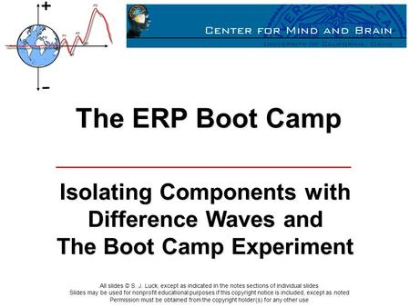The ERP Boot Camp Isolating Components with Difference Waves and