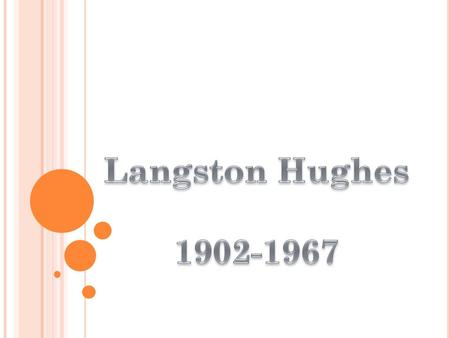 """The Shakespeare of Harlem"" Born in Joplin, Missouri, James Langston Hughes was a member of an abolitionist family. He was raised primarily by his grandmother."