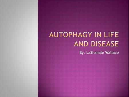 By: LaShanale Wallace.  Introduction: What is Autophagy?  Objective  Specific examples  Conclusion.