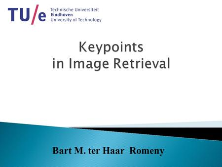 Bart M. ter Haar Romeny.  Question: can top-points be used for object- retrieval tasks?