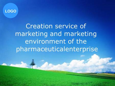LOGO Creation service of marketing and marketing environment of the pharmaceuticalenterprise.