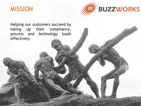 Helping our customers succeed by taking up their compliance, process and technology loads effectively MISSION.