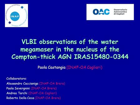 VLBI observations of the water megamaser in the nucleus of the Compton-thick AGN IRAS15480-0344 VLBI observations of the water megamaser in the nucleus.