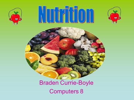 Braden Currie-Boyle Computers 8 Carbohydrates Major source of energy for body Body breaks them down into simple sugars Releases a hormone called insulin.