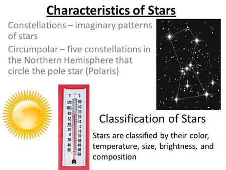 The main characteristics of stars