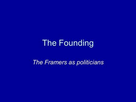 framers constitution research paper