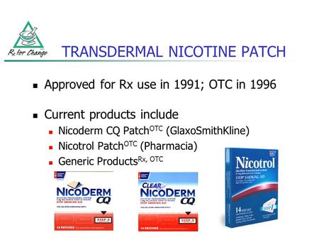 TRANSDERMAL NICOTINE PATCH