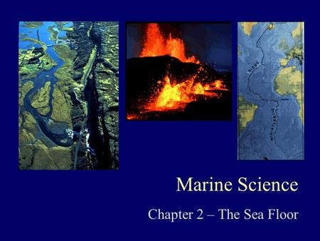 Marine Science Chapter 2 – The Sea Floor. FOCUS QUESTIONS I.What are the major physical features of the Earth's surface? II.What explanation have scientists.