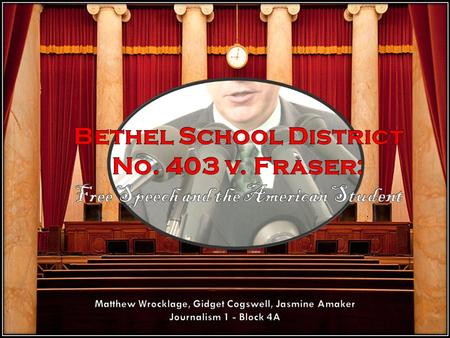 Case Basics The 1985 Supreme Court case of Bethel School District v. Fraser:  gave schools the right to regulate indecent speech that may be perceived.