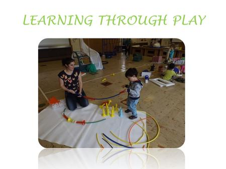 LEARNING THROUGH PLAY. As children play they are developing the cognitive, emotional and physical skills they will need to take them into a successful.